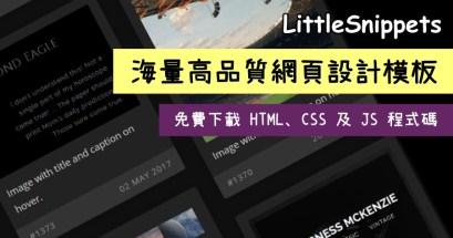 哪裡有高品質線上網頁設計模板?LittleSnippets 專業網頁設計模板還能免費修改程式碼