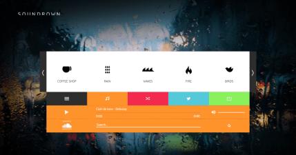 SounDrown 線上環境音效網,讓自己創造出更專注、放鬆的絕佳空間!