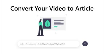 Video to Article 可將 YouTube 影片轉文字工具,增強你的外語聽力與閱讀能力!