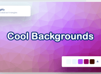 Cool Backgrounds 線上背景產生器,5種酷炫背景並可自訂顏色!(PNG、SVG)