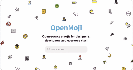 OpenMoji 免費商用 Emojis 圖示網站,共有 3678 圖示並支援 SVG、PNG 格式下載!