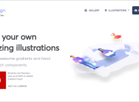 Ira Design 超精美漸層插圖素材網,可自訂顏色並免費做個人與商業用途!