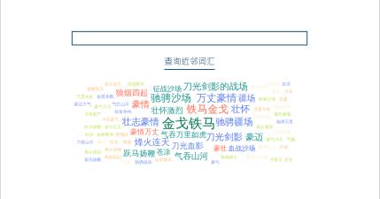 查詢鄰近詞彙工具-不管是中文、英文或成語,網站都能幫你找出更多鄰近詞彙!