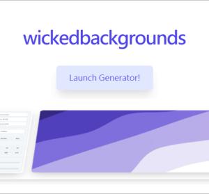 Wicked Backgrounds 超美的 SVG 漸層波浪背景產生器,可自訂波峰、角度、顏色深淺!