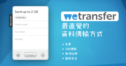 Wetransfer 線上檔案分享無負擔,上傳與下載速度一極棒