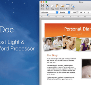 【Mac】 1Doc 超級輕量級 Word,大小不到 5MB 的 Mac 文書編輯器!