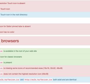 Favicon Checker 網站圖示檢查,滿足瀏覽器與各系統平台的網站圖示
