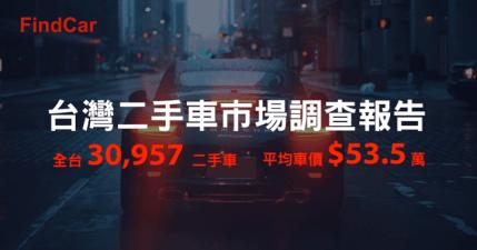 FindCar 台灣二手車市場調查報告,想知道那些二手資訊呢?
