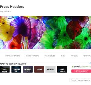 Free WordPress Headers 百種免費首頁圖片下載