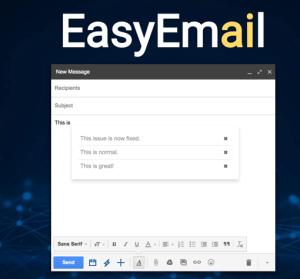 【Chrome】EasyEmail 在 Gmail 中智慧學習你的常用語具,寄信時自動完成