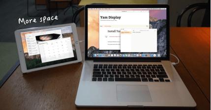 Yam Display 免費 Mac 螢幕延伸器,讓舊 iPad 成為 Mac 的第二個螢幕!