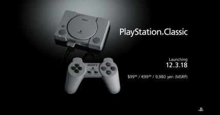 PlayStation Classic 迷你復刻版主機 12/3 在台開賣,Sony 這次要賣回憶!