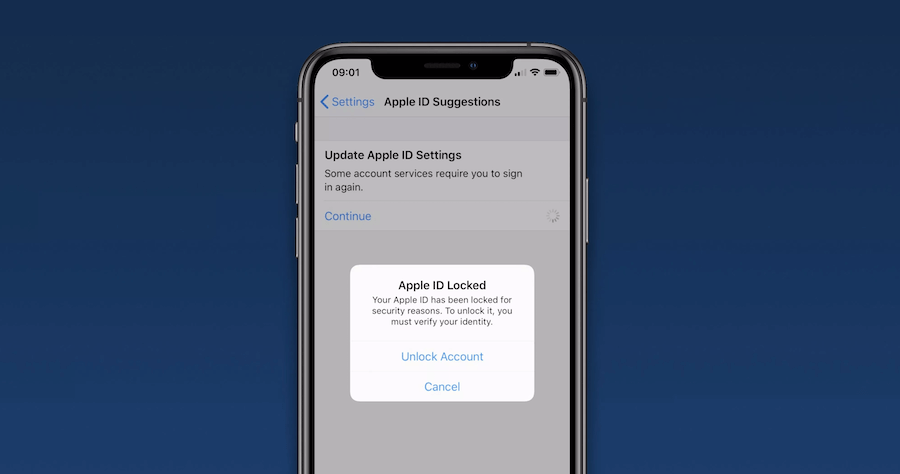 Apple ID 被鎖定