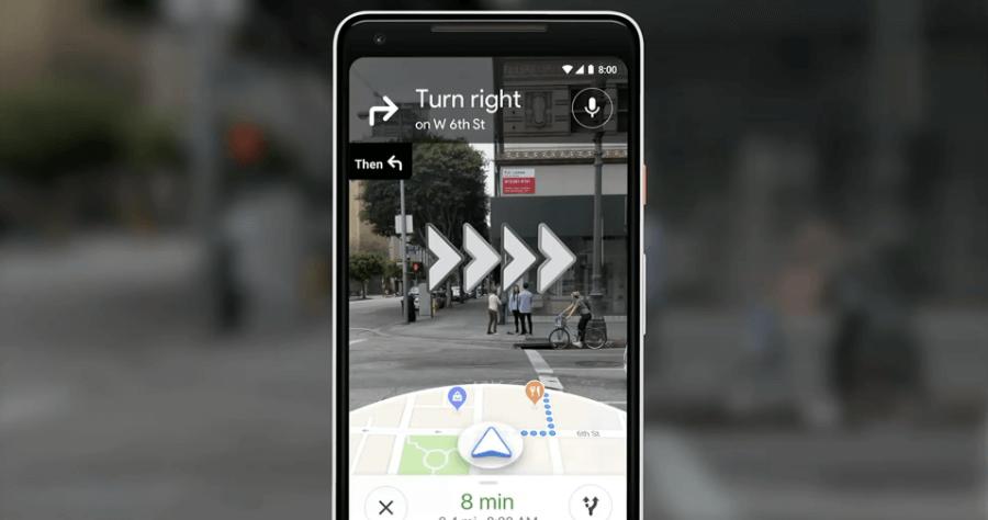 Google地圖AR導航
