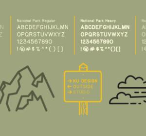 美國國家公園告示牌字型 Typeface,開放大家免費下載可商業使用!