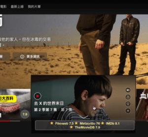 Film scores for Netflix 雷片偵測器,幫你篩選 Netflix 好看影片