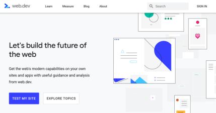web.dev 由 Google 推出的網站最佳化工具,檢測並提供網站優化建議
