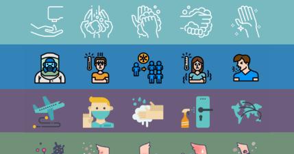 武漢肺炎防疫 icon,由 Iconfinder 推出可免費用於宣導新型冠狀病毒海報 / 傳單 / 告示