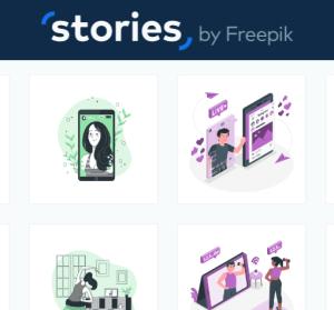Stories by Freepik 免費可商用插圖素材庫,可自訂圖片顏色與內容