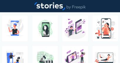 有免費 GIF 素材可以下載嗎?Stories by Freepik 免費下載