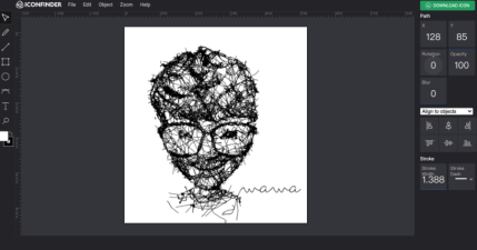 線上 SVG 編輯器 Iconfinder Icon Editor,打開瀏覽器就能編輯 SVG 檔免安裝任何 App