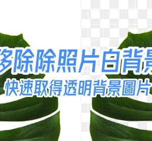 Remove white background 一秒移除照片白色背景,透明背景 PNG 圖片快速取得