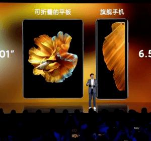 小米 Mix Fold 旗下首款摺疊手機正式發表,全世界第一款採用液態鏡頭手機,售價 9,999 人民幣起