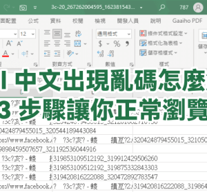 Excel 遇到亂碼如何解決?這招學起來,教你快速解決