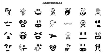 The Doodle Library 破 1000 款手繪黑白線條插圖,採用 CC4.0 授權免費下載