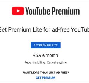 YouTube Premium Lite 看 YouTube 去廣告新選擇,更便宜享受無廣告的影片