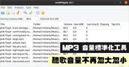 下載下來的 MP3 大小聲怎麼辦?大家可能會從網路上下載自己想聽的 MP3 來收聽,就算都是同一個來源下載的,可能也還是會有「音量」大小聲的問題,此時就可以透過今天要跟大家分享的 wxMP3gain音量調節器來調整,它支援批次調...