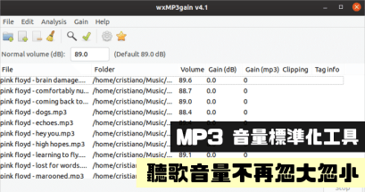 有推薦的 mp3 音量調整 App 嗎?wxMP3gain 免費下載支援批量調整