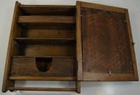 Primitive ANTIQUE Oak MEDICINE CABINET BATHROOM Cupboard ...