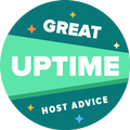 HostAdvice Great Uptime Award for EgenSajt Sverige AB