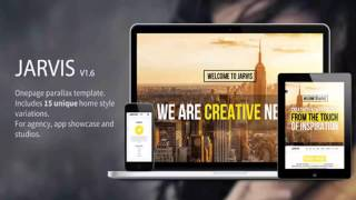Jarvis – Onepage Parallax Theme | Website Templates and Themes