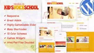 Kids Voice School – Responsive WordPress Theme | Website Templates and Themes