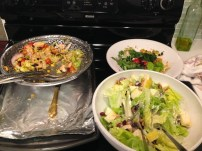 Leftover Waldorf salad and Chipotle salad