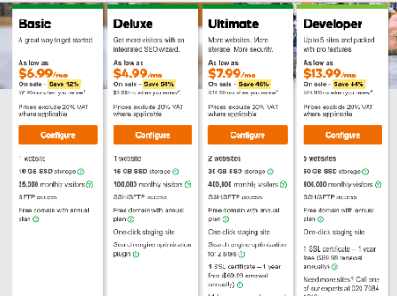 Godaddy hosting plans wordpress