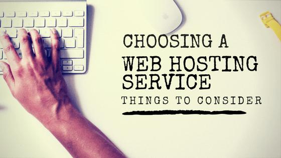 Choosing a Web Hosting Service