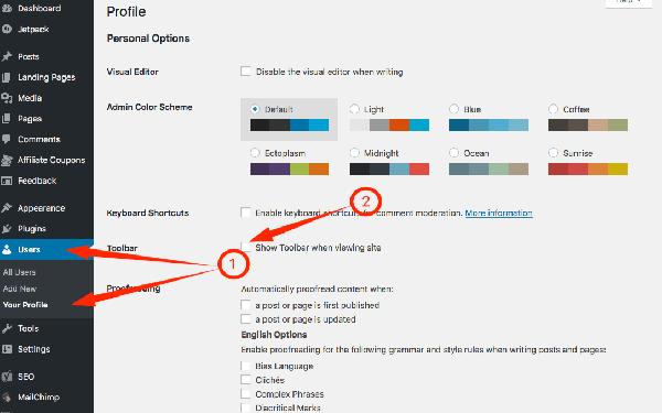 Remove admin menu