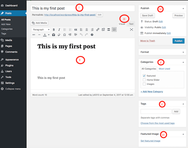 Creating New Post in WordPress