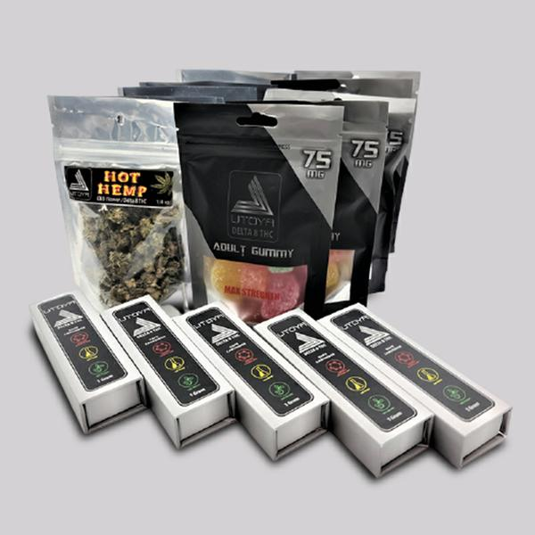 Best Delta 8 THC deals: The '5 Each Bundle': Delta 8 Full Gram Carts/ 75mg Fruit Slice Gummies / Hot Hemp Flowers