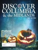 Front cover of Discover Columbia magazine with jack o lanterns