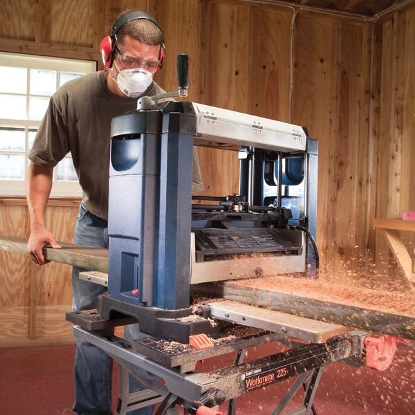 How to Use a BenchTop Planer  The Family Handyman