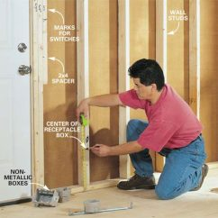 Attic Plumbing Diagram 5 Way Rotary Switch Wiring How To Rough-in Electrical | The Family Handyman
