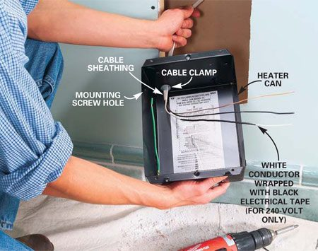 For An Electric Baseboard Heat Thermostat Wiring Diagram Installing Electric Heaters The Family Handyman