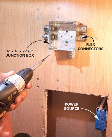 wall outlet wiring diagram solar powered light how to install under cabinet lighting in your kitchen | the family handyman
