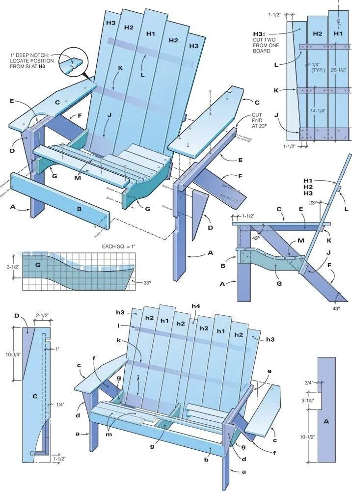 adirondack chair plans handyman