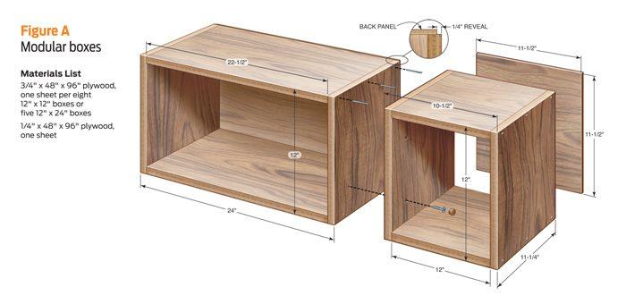 Plywood Cube Shelf Plans Diy Blueprint Plans Download How To Build