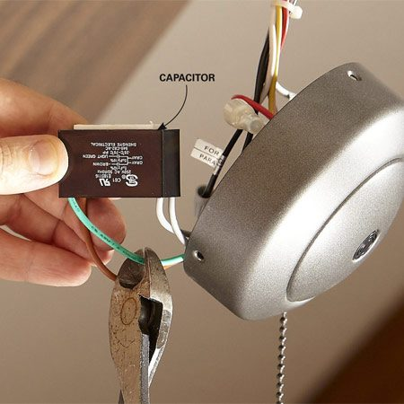 harbor breeze fan capacitor wiring diagram farmall super a 12 volt how to install ceiling remote | the family handyman